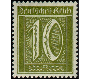 Postage stamp set  - Germany 1921 - 10 Pfennig