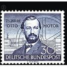 75 years of Otto four-stroke gas engine - Germany 1952 - 30 Pfennig