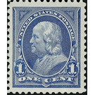 Benjamin Franklin (1706-1790), leading author and politician - United States of America 1894