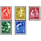 Children Stamps - Netherlands 1962 Set