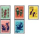 Children Stamps - Netherlands 1963 Set