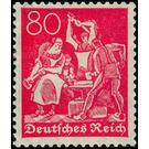 Freimarkenserie  - Germany 1921 - 80 Pfennig
