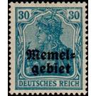 Germania, overprint Memel-Area - Germany 1920 - 30