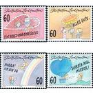 Greeting card - heart  - Liechtenstein 1995 Set