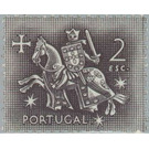 Knight on horseback (from the seal of King Dinis) - Portugal 1953 - 2