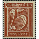 Postage stamp set  - Germany 1921 - 25 Pfennig