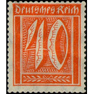 Postage stamp set  - Germany 1921 - 40 Pfennig