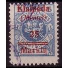 Print II on officiel stamp - Germany 1923 - 25